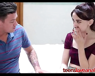 Step brother teaching his legal age teenager sister anal sex - teensloveanalsex.com