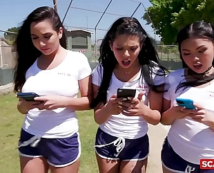 Scam girls - american hotties gina valentina and cindy starfall scam their coach