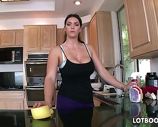 Big butt dark brown hair busty maid alison tyler receives drilled