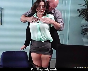Hottest office fuck with busty hottie 13