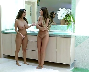 Wife showers with the babysitter ava addams august ames