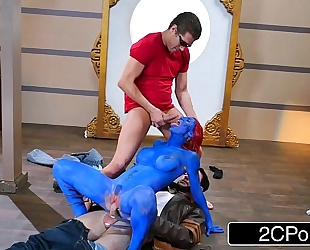 Xxx-men: shagging the shapeshifter mystique (xxx parody) - nicole aniston